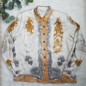 ESCADA Margaretha Ley 100% Silk Blouse 42 Vintage